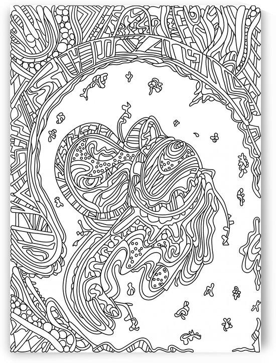 Wandering 50: black & white line art by Dream Ripple