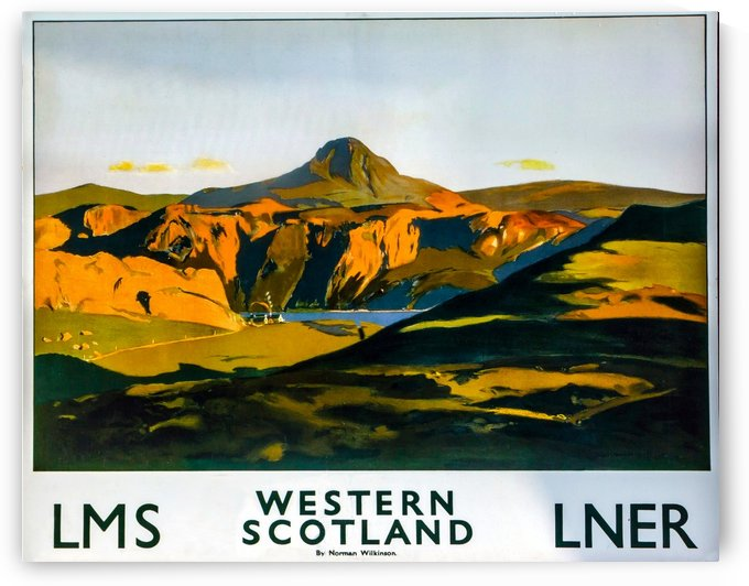 Vintage Travel - Western Scotland by Culturio