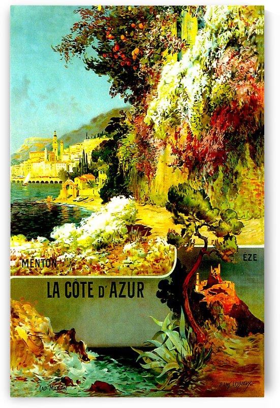 La Cote d Azur - Vintage Travel  by Culturio