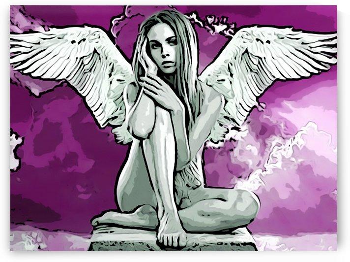 Angel Relaxing by W Scott