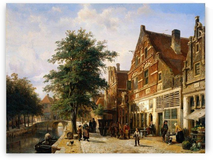 Enkhuizen Zuidhavendijk by Cornelis Springer