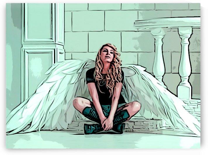 Angel Waiting by W Scott