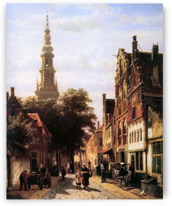 Walenkerk Haarlem by Cornelis Springer