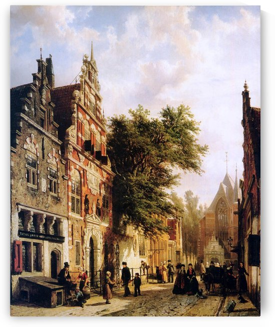 Weeshuis in Enkhuizen by Cornelis Springer