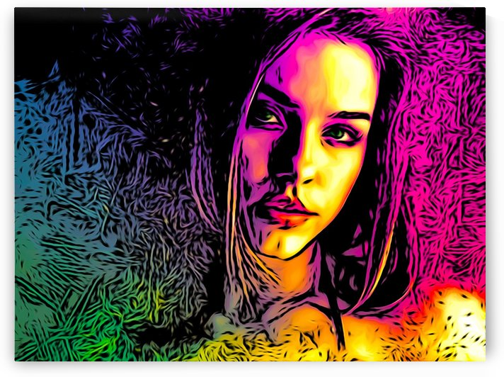 MultiColor Girl by W Scott
