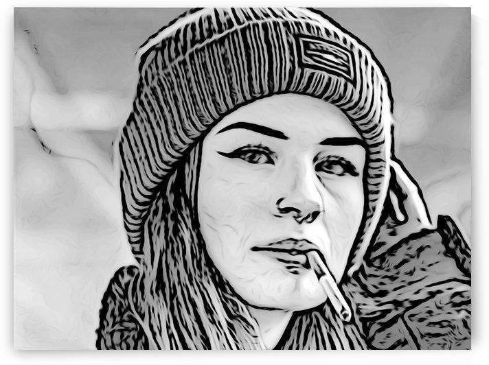 Smoking Girl 2 by W Scott