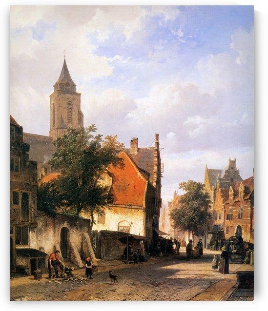 Church in Zaltbommel by Cornelis Springer