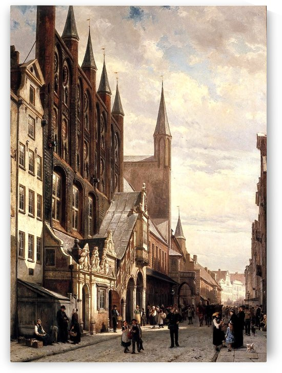 Rathaus HL by Cornelis Springer