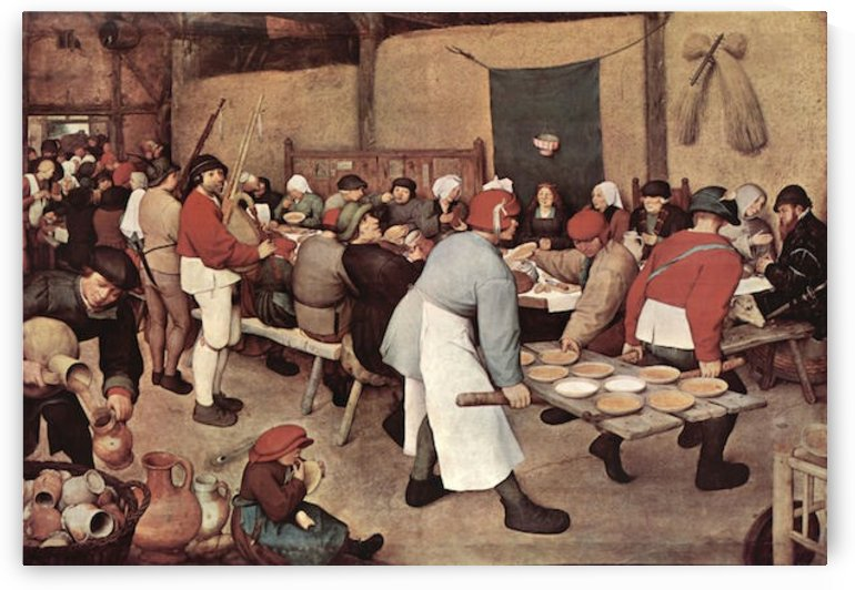 Country wedding by Pieter Bruegel by Pieter Bruegel