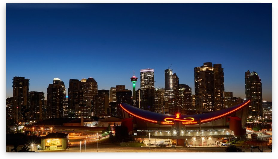Calgary at Night by Russell Carter