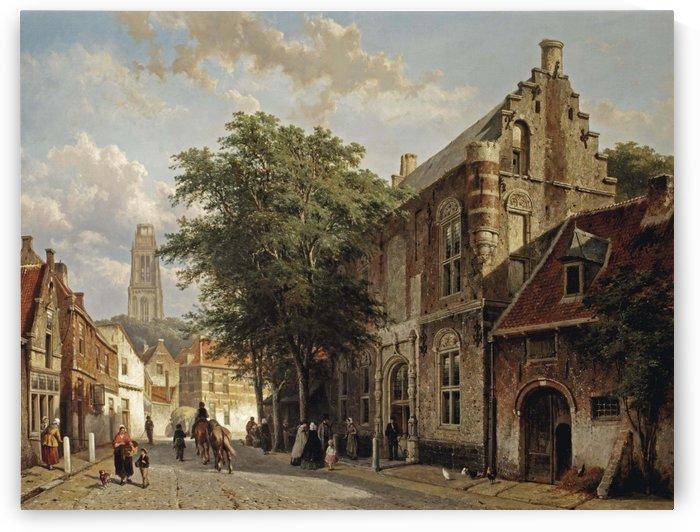 The house of Maarten van Rossum in Zaltbommel by Cornelis Springer