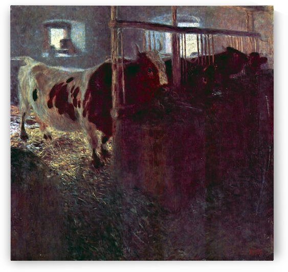 Cows in Stall by Klimt by Klimt