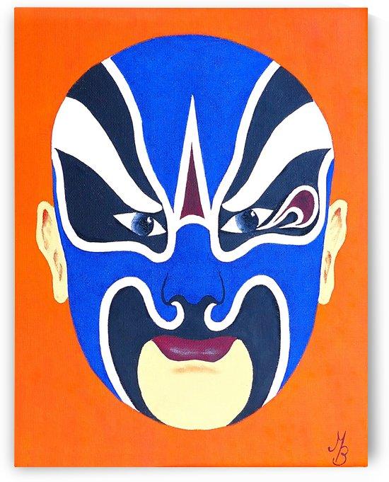 Xiahou Dun - Chinese Opera Mask by Birgit Moldenhauer