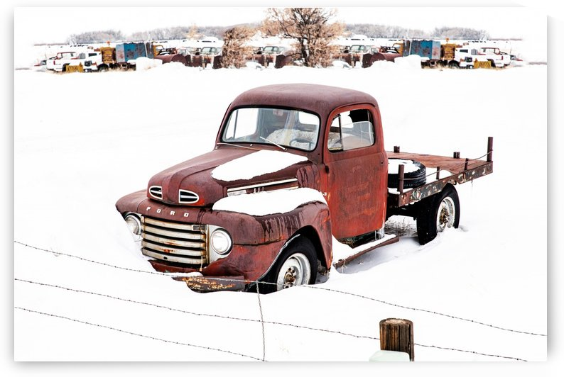 ford in snow by Charles Ayars