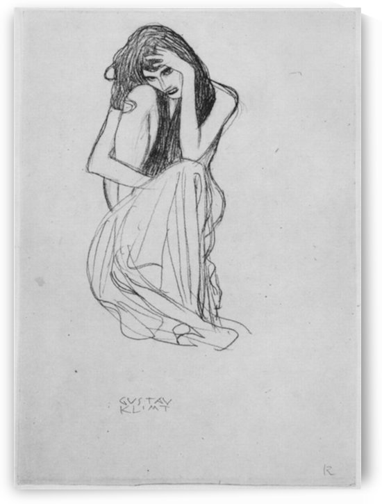 Crouching from the front by Klimt by Klimt