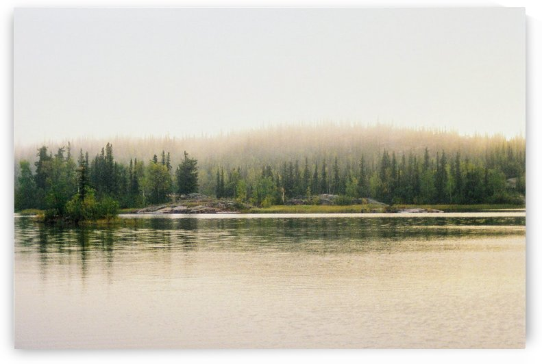 Morning Mist Great Slave Lake NT by Stuart Spofford