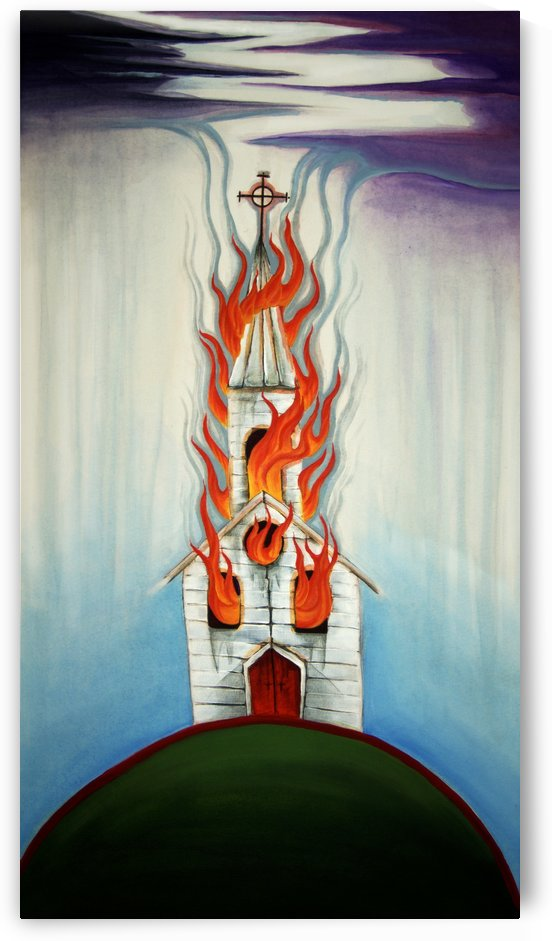 Burning Church by Adam Gillespie Artwork