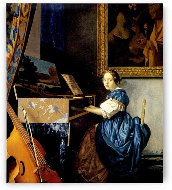 Dame on spinet by Vermeer by Vermeer
