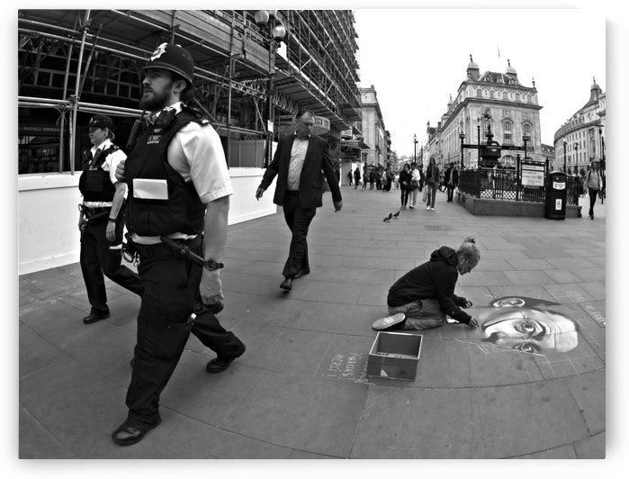 Chalk Art with Bobbies by H.Hart Photography