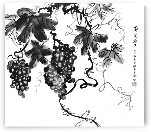 Chinese Grapes one by Birgit Moldenhauer