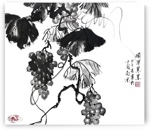 Chinese Grapes two by Birgit Moldenhauer