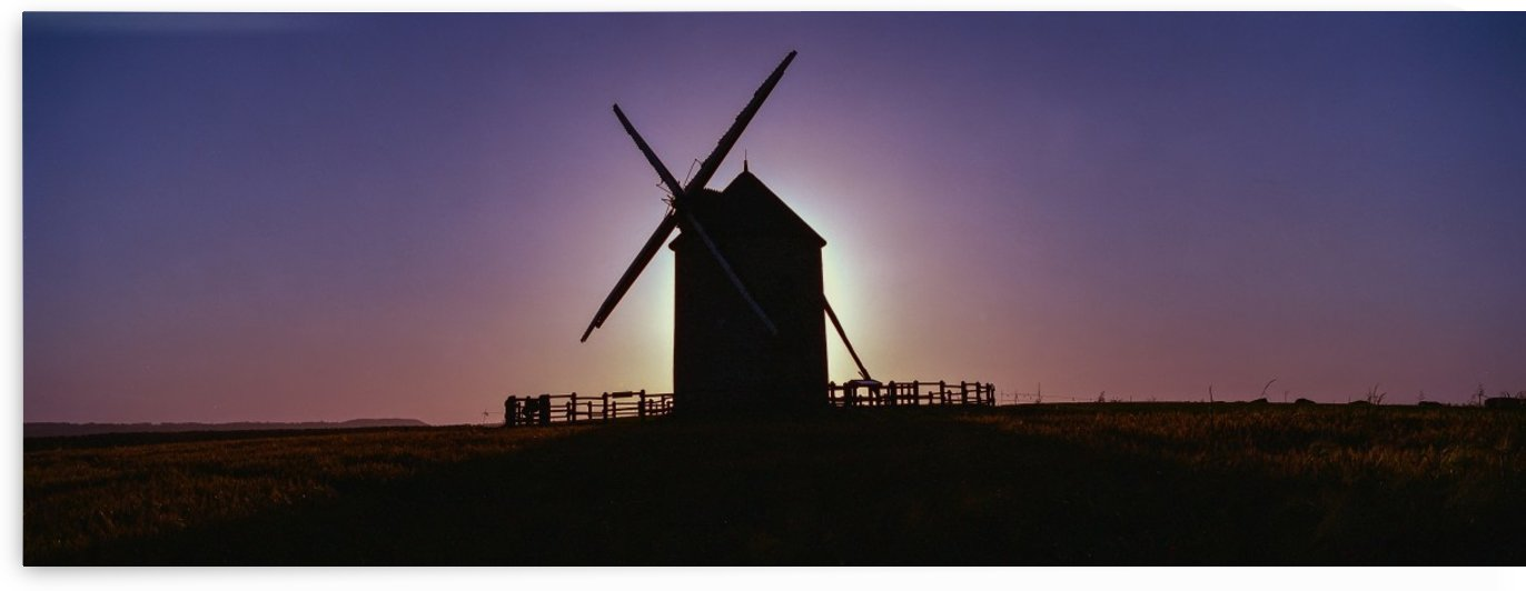 Windmill against the sunset north west France. by Downundershooter