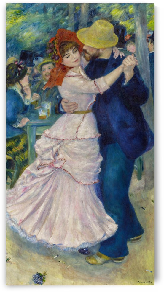 Dance at Bougival by Renoir by Renoir