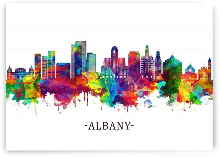 Albany New York Skyline by Towseef Dar