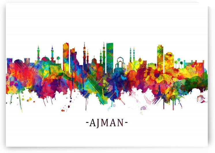 Ajman UAE Skyline by Towseef Dar
