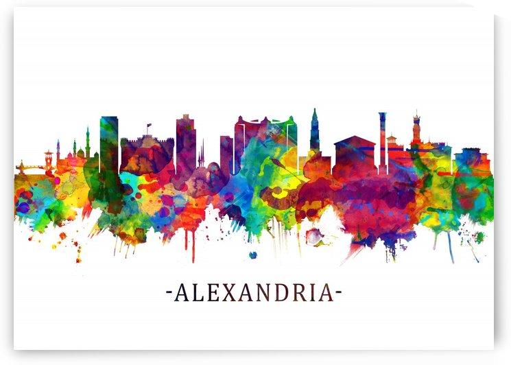 Alexandria Egypt Skyline by Towseef Dar