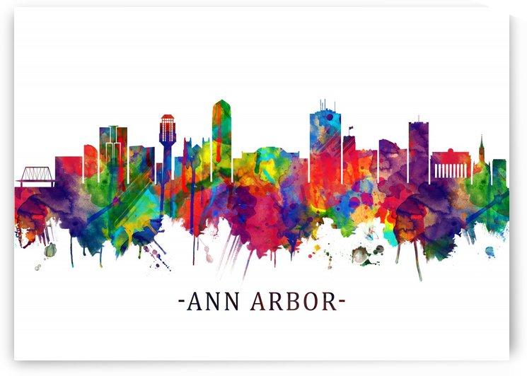 Ann Arbor Michigan Skyline by Towseef Dar