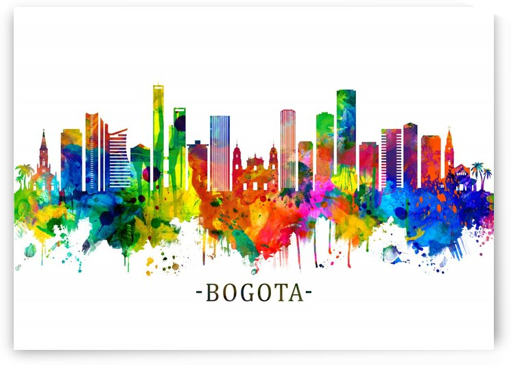 Bogota Colombia Skyline by Towseef