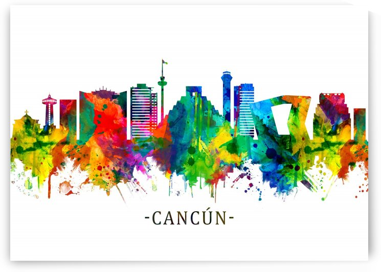Cancun Mexico Skyline by Towseef