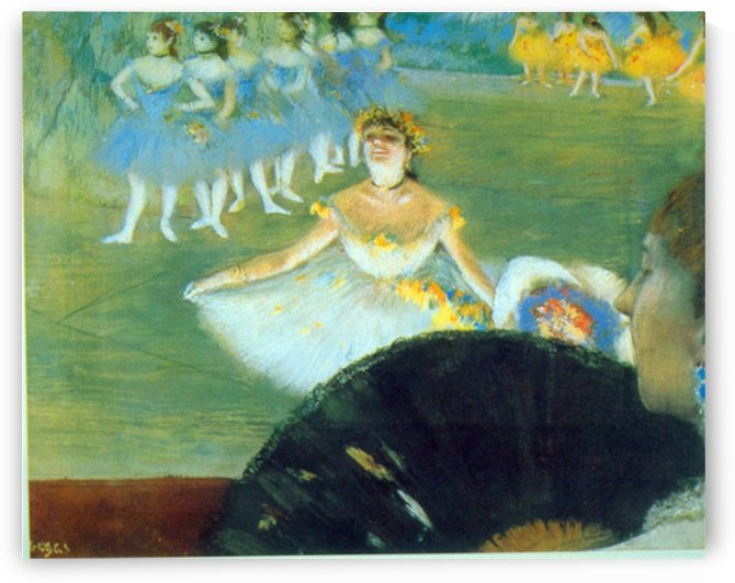Dance with Bouquet by Degas by Degas