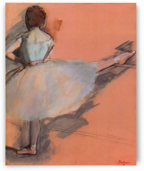 Dancer at the bar 1 by Degas by Degas