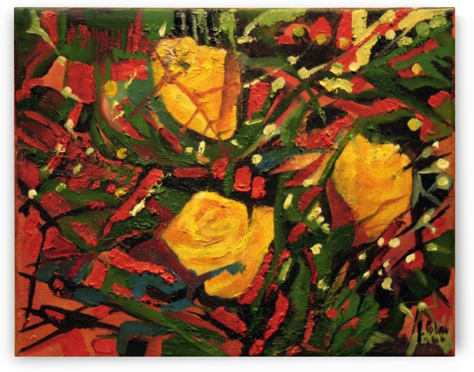 Three roses by Joseph Coban