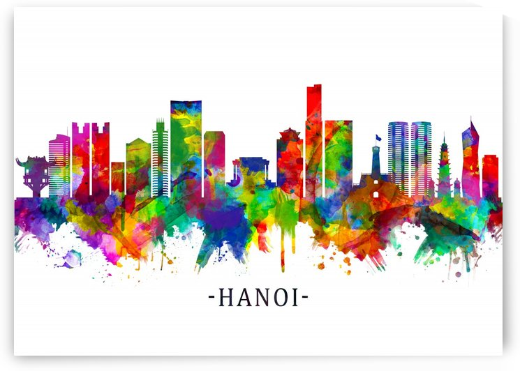 Hanoi Vietnam Skyline by Towseef Dar