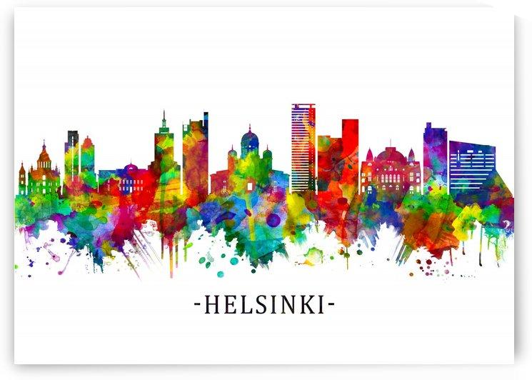 Helsinki Finland Skyline by Towseef Dar