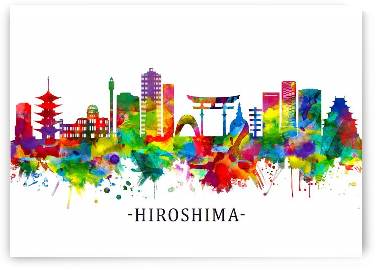 Hiroshima Japan Skyline by Towseef Dar