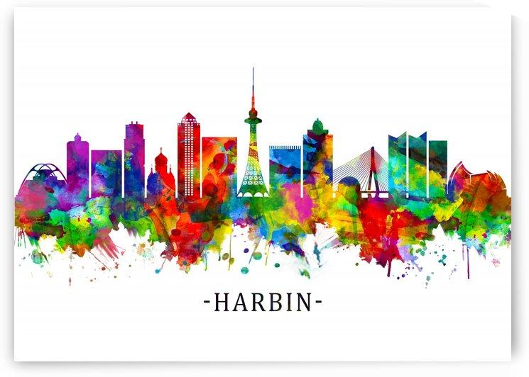 Harbin China Skyline by Towseef Dar