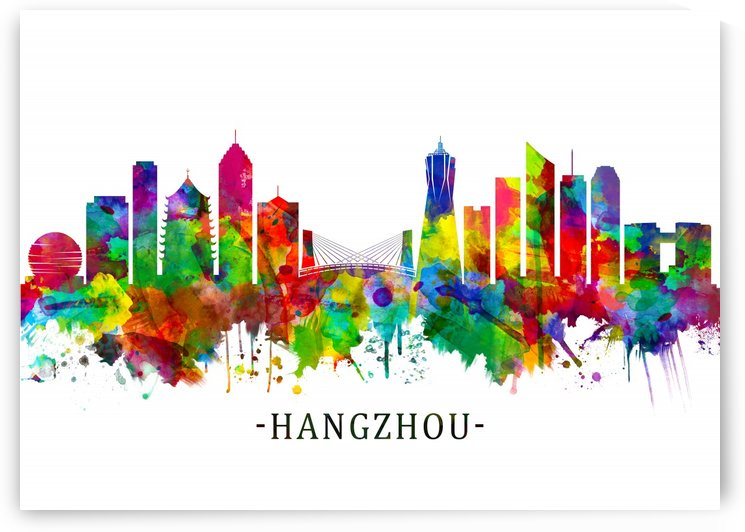 Hangzhou China Skyline by Towseef Dar