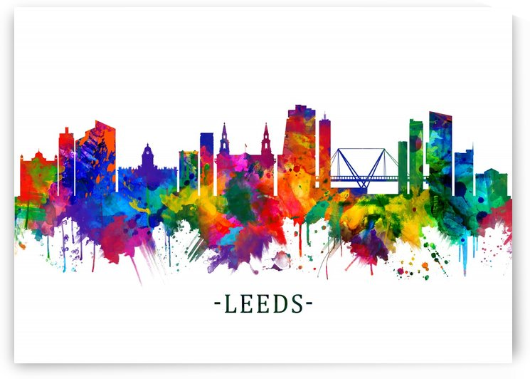 Leeds England Skyline by Towseef