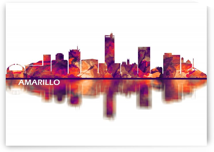 Amarillo Texas Skyline by Towseef
