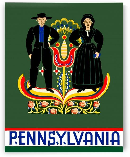 USA Pennsylvania Travel PosterEdited by Culturio