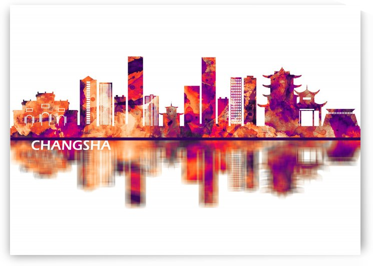 Changsha China Skyline by Towseef Dar