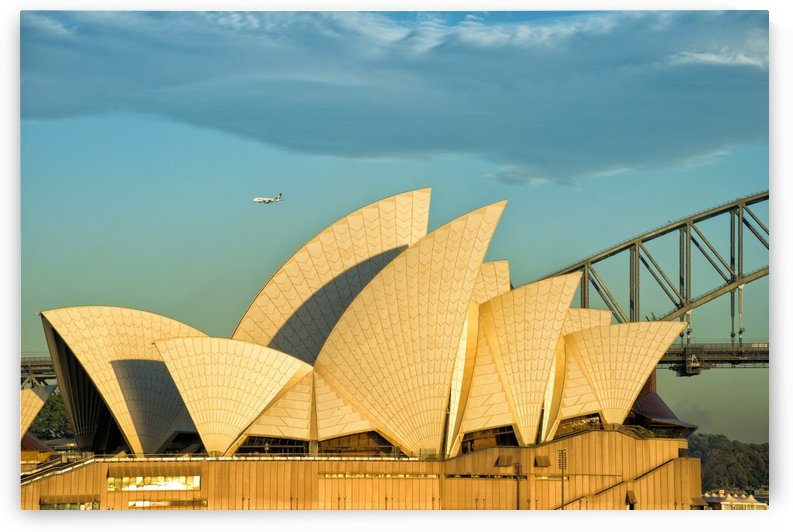 First plane of the morning Sydney Opera House by Downundershooter