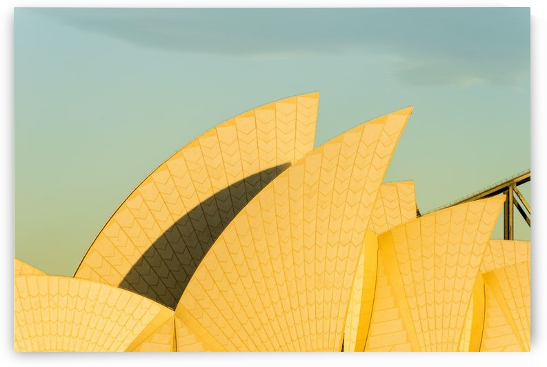 Sail detail of the Sydney opera house. by Downundershooter
