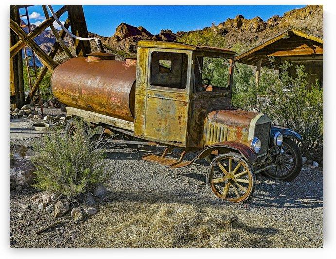 Old Car in Ghost Town by JarmilaKostlivaStudio