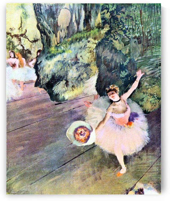 Dancer with a bouquet of flowers (The Star of the ballet) by Degas by Degas