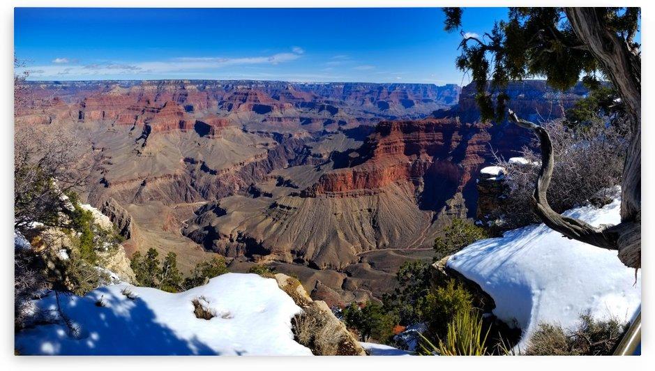 Grand Canyon S Rim w snow2  by Creative Endeavors - Steven Oscherwitz